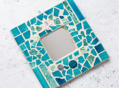 mozaik: tükörkeret díszítése