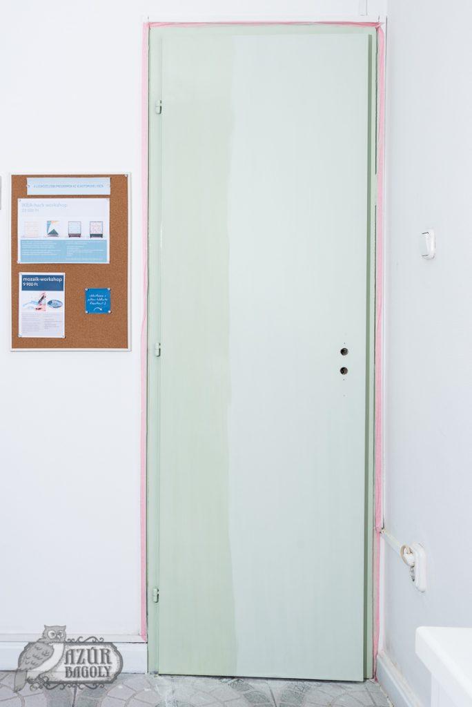 az ajtófestés esetén is igaz, hogy az olajozás mélyíti a festék színét