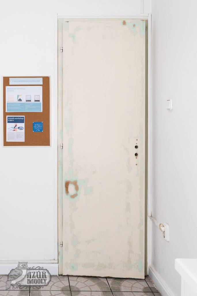 az ajtófestés esetén is fontos a felület előkészítése a festés előtt